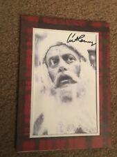 Twilight Zone Art Carney Santa Facsimile Signature Photo Greeting Christmas Card