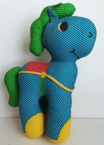 Plush CIRCUS HORSE Vintage Stuffed Animal by RED CALLIOPE Spiegel Catalog 1980's