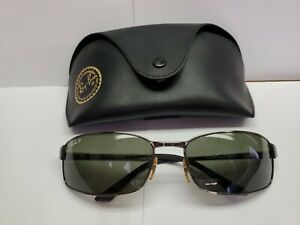 Ray Ban RB3218 Polarized Sunglasses 004/58 Vintage Made In Italy
