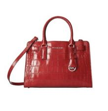 Stunning, Immaculate Michael Kors Red Large Dillon Embossed Bag, RRP $419
