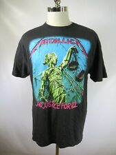 E6834 VTG METALLICA AND JUSTICE FOR ALL Tour Rock Band Concert T-Shirt Size XL