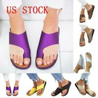 US STOCK Women Comfy  Sandal Ladies Shoes -PU LEATHER- Bunion Corrector 2019