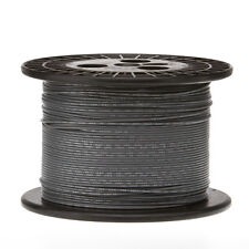 "24 AWG Gauge Solid Hook Up Wire Gray 1000 ft 0.0201"" UL1007 300 Volts"