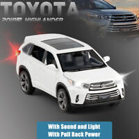 2018 Toyota Highlander SUV 1:32 Diecast Model Car Toy Collection Sound&Light