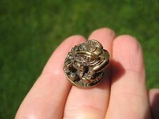 Brass Lucky Toad Frog Thailand  Brass Statue Figure Small Amulet A10