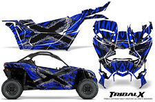 CAN-AM BRP MAVERICK X3 CREATORX GRAPHICS KIT DECALS TRIBALX CM SILVER BLUE