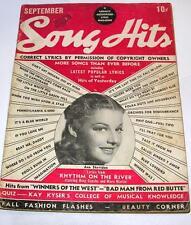 VTG sEPT 1940 MAGAZINE Song Hits MUSIC LYRICS, MOVIE PHOTOS, ANN SHERIDAN