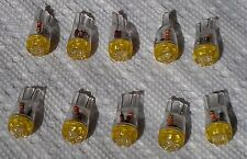 Lot of 10 AMBER YELLOW 194 LED LIGHT BULBS SUPER LED's 168 158