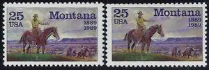 "2401 - Scarce Multiple Color Shift Error / EFO ""Montana"" Mint NH"