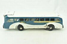 Buddy L Greyhound Lines Bus Wind Up Pressed Steel Toy