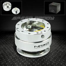 Nrg Steering Wheel Short 6 Hole Gen 10 Quick Release Adaptor Kit Silver Chrome