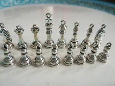delicate international chess Charm Pendant A set of Antique silver copper