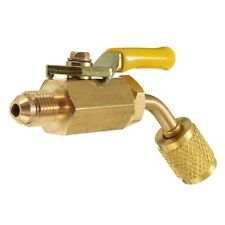R410a R134a Brass Shut Valve For A/C Charging Hoses HVAC 1/4inch AC E1Y5