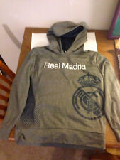 Real Madrid Hoodie Youth size L/G Grey/light charcoal, with blue