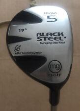 Mg Golf Black Steel Strong 5 Fairway Wood 19 Degrees Pat Simmons Senior Flex
