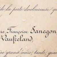 Athenaïs Françoise Sanegon Vicomtesse Antoine Piscatory De Vaufreland Paris 1883