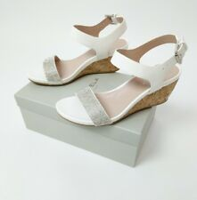 Kurt Geiger Carvela White Sparkle Mary Jane Wedge Sandal UK 6 EU 39 New RRP£135