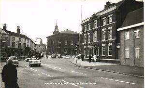 Burslem, Stoke on Trent. Market Place by W.& M.Lowell, Burslem.