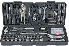 Pittsburgh 130 Pc Tool Set Box Automotive Home Repair Wrench Ratchet Kit W/ Case