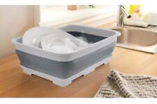Collapsible Gray Folding Washing Up Bowl Camping Caravan Boat Dish Washing Bowl