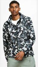 Brand New Nike Essential Camo Jacket Medium Hooded Windbreaker