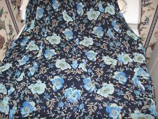 WOMENS SKIRT SIZE 2X BLUE FLORAL NEW WITH TAGS RETAIL $44.00
