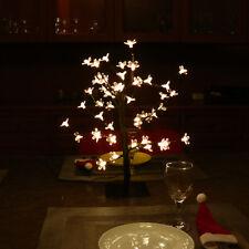 YUNLIGHTS 48 LED Cherry Blossom Bonsai Tree Light Lamp Remote Control Xmas 45CM
