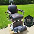1947 Theo A  Kochs Antique Barber Chair   Fully Restored in Leather