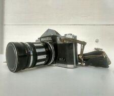 Petri Flex V 35mm SLR Film Camera Body w RARE Accura Supertel Lens 1:2.8 f=135mm