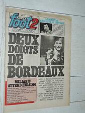 FRANCE FOOT 2 N°187 1981 FOOTBALL GIRONDINS-HSV BASTIA-TBILISSI ROUSSEY SOCRATES