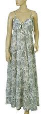 148641 New Denim & Supply Ralph Lauren Printed Corset  Maxi Gown Dress XXS