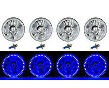 5-3/4 SMD Blue LED Halo Halogen Bulb Headlight Angel Eye Crystal Clear Set Of 4