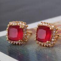 Wedding ruby 24k yellow gold filled luxury HOT SALE smart stud earring