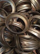 NEW Ball Mason Canning Jar Ring Band Lids 100 Regular Mouth Gold Bands Only