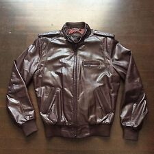 Vintage Members Only Europe Craft Cafe Racer 80s Leather Jacket Mens 40 Medium
