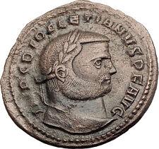 DIOCLETIAN 288AD Antioch Big Follis Authentic Ancient Roman Coin Genius i63201