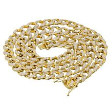Free Bracelnet with New 15mm 30inch Iced Out Miami Cuban Link Chain Necklace