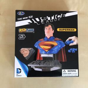 DC Comics Justice League SUPERMAN 3D Puzzle - 72 piece Jigsaw - GIFT NEW UK RARE