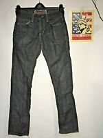 Levi's 511 black jeans Skinny leg Distressed Faded Hippie Boho punk Denim 30x32