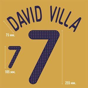 David Villa 7. Spain Away football shirt 2008 - 2010 FLEX NAMESET NAME SET PRINT