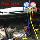 """1.5M 1/4 """"SAE R134A Refrigerant Recharge Hose Can Tap + Gauge With Brass Fitting"""