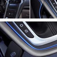 5M Universal AUTO ACCESSORIES CAR Interior Gap Decorative Blue Line CHROME Shiny