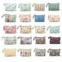 Reusable Waterproof Printed Travel Bag Mini Dry Wet Bag Pocket Baby Diaper