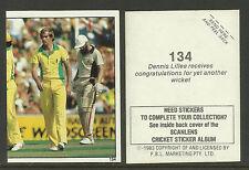 AUSTRALIA 1983 SCANLENS CRICKET STICKERS SERIES 2 - DENNIS LILLEE (AUST) #134