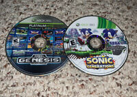 Sonic's Ultimate Genesis Collection & Sonic Generations Xbox 360 Lot Bundle