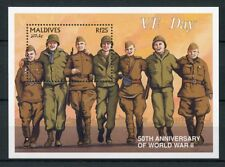 Maldives 1995 MNH WW2 WWII VE Day 50th Anniv End World War II 1v S/S Stamps