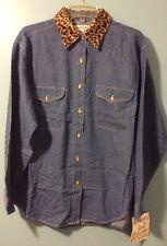 Village Andrew's Jeans Long Sleeve Blue Jean Shirt Size L,  $25. Each