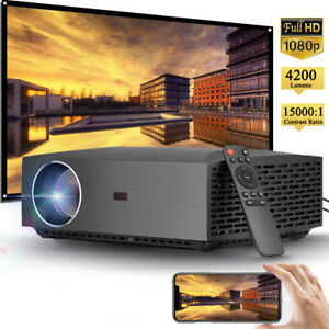 4200 Lumen 1080P FULL HD Multimedia Projector 4K Max Home Theater Office Gaming