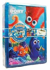 DISNEY PIXAR FINDING DORY COLLECTORS TIN WITH 3 BOOKS, PENS STICKERS, POSTER NEW