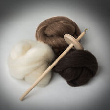 *Drop Spindle Kit*Shetland Fleece*Learn To Spin* wool,tops,wheel,roving,sp inning